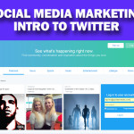 Creating a Twitter Business Page to engage in social media marketing.